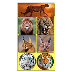 Rectangle Adhesive 3D Lenticular Stickers For Children's Book PET/PP Printing